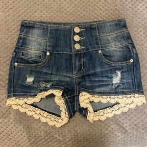 NWOT High Waisted Jean Shorts